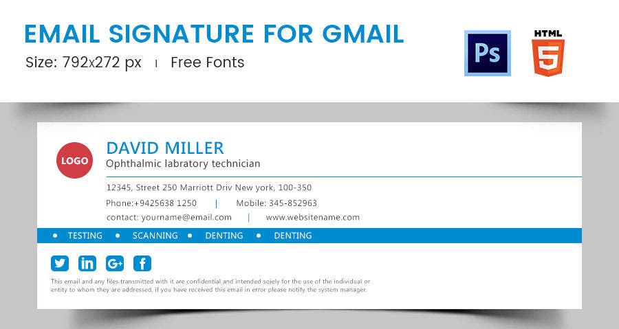 Gmail email signature templates 28 images gmail for Free email signature template