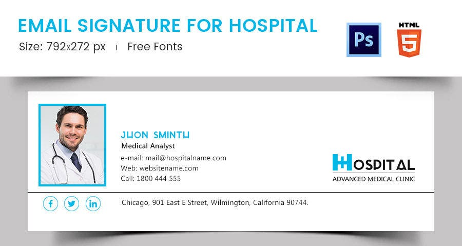 Email Signature for Hospital