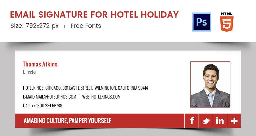 Email Signature for Hotel Holiday