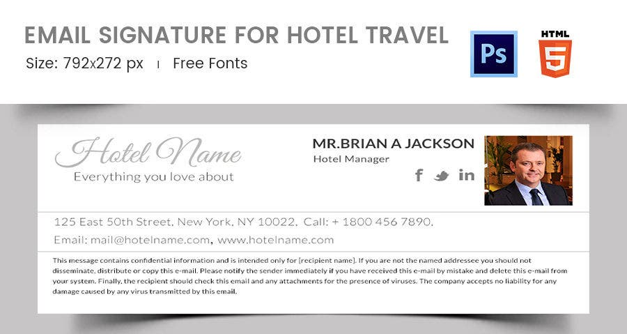 Email Signature for Hotel Travel