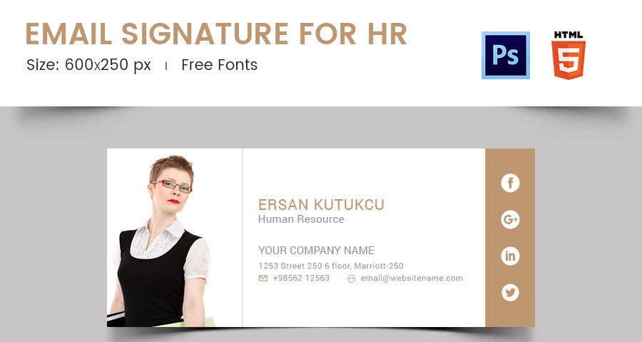 Email Signature for HR