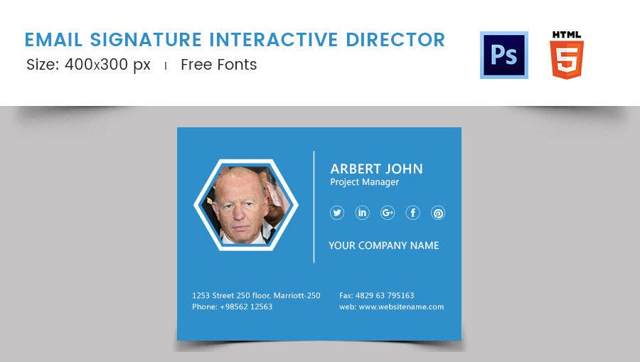 Email Signature for Interactive Director