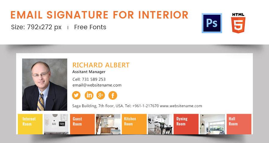 Email Signature for Interior