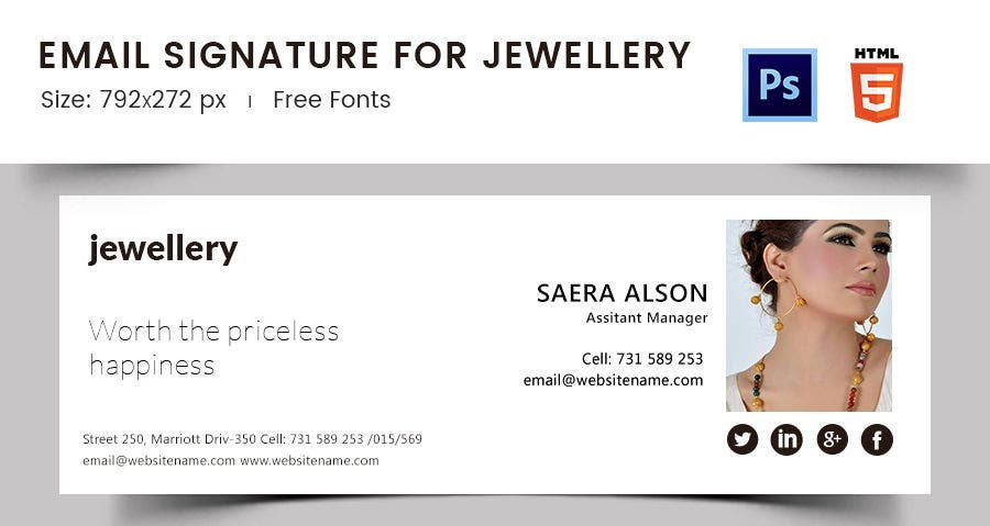 Email Signature for Jewelry