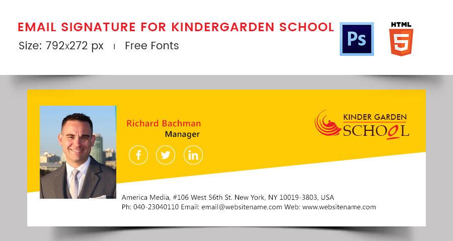 Email Signature for Kindergarten School
