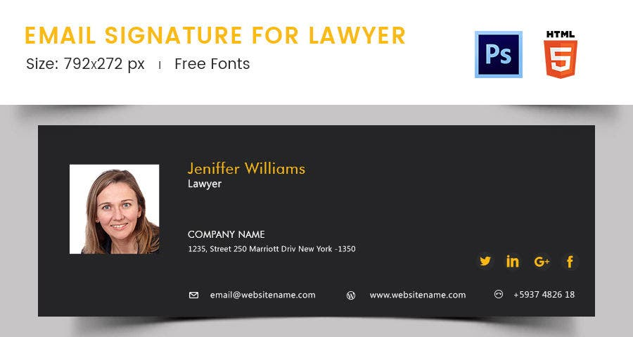 Email Signature for Lawyer