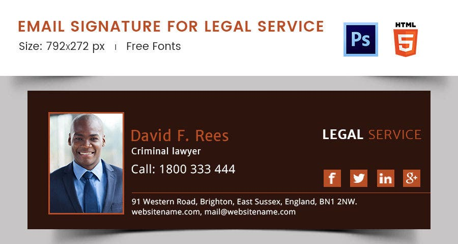 Email Signature for Legal Service