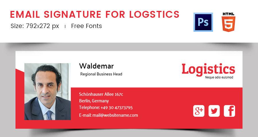 Email Signature for Logistics