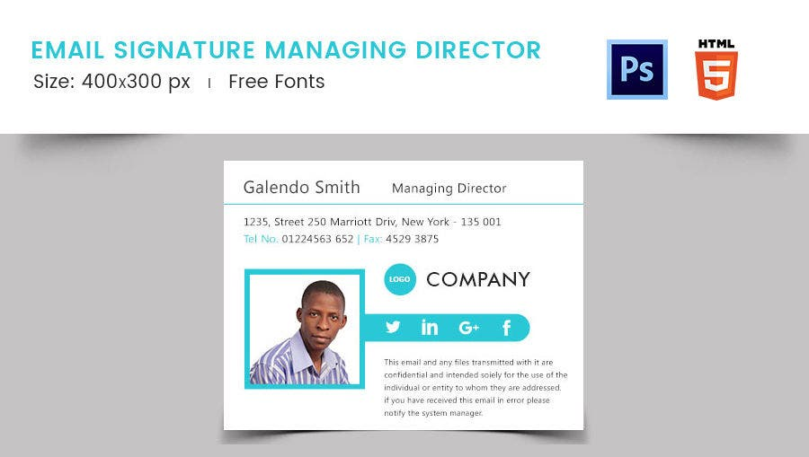 Email Signature for Managing Director