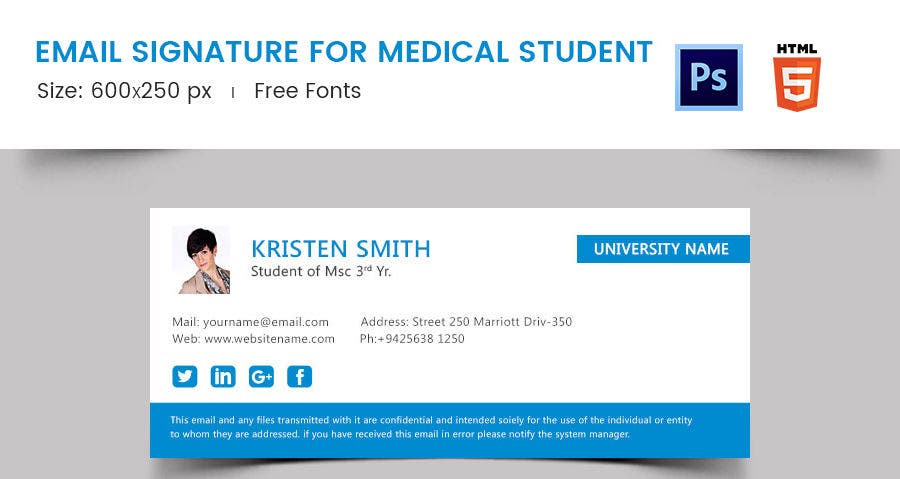 Email Signature for Medical Student