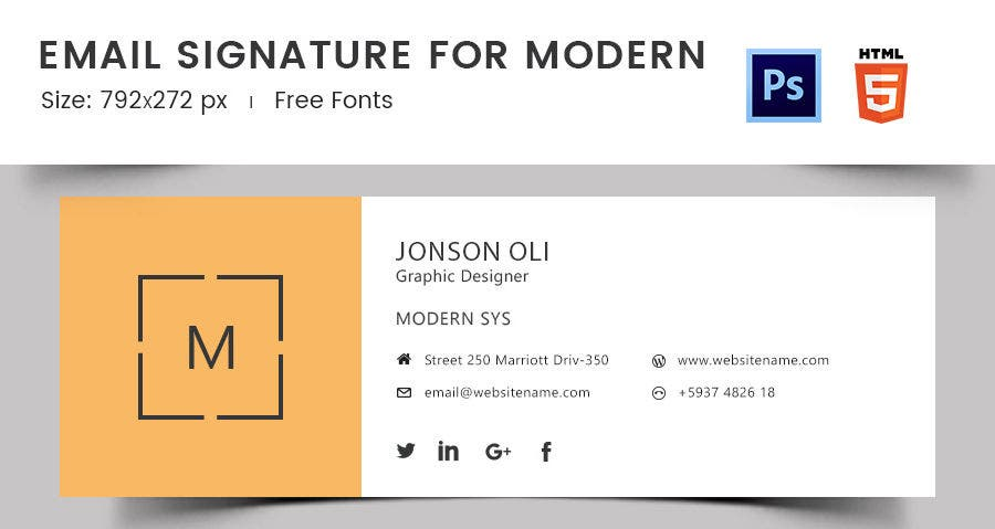 Email Signature for Modern
