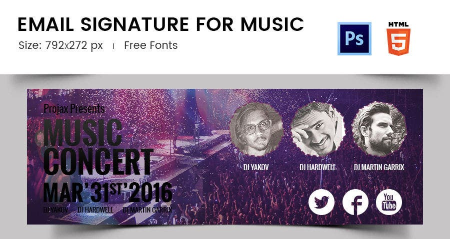 Email Signature for Music