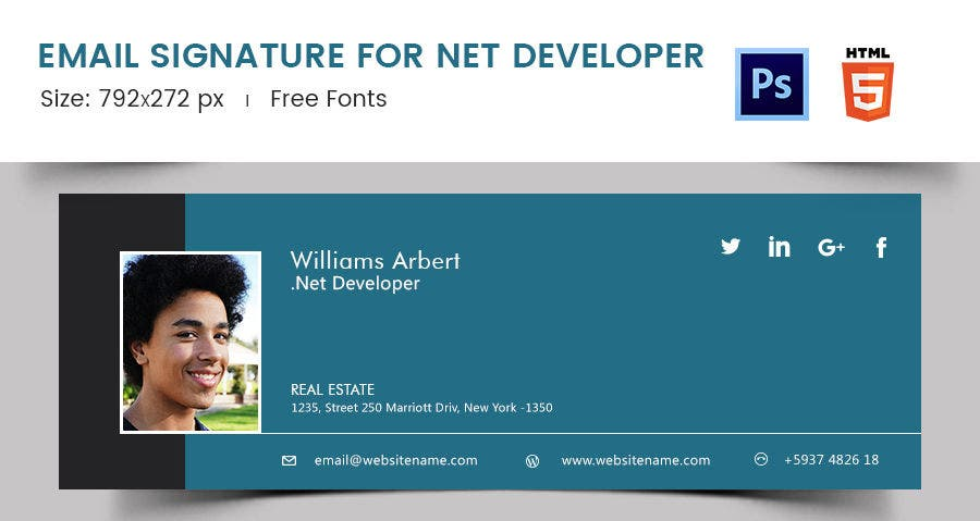 Email Signature for Net Developer