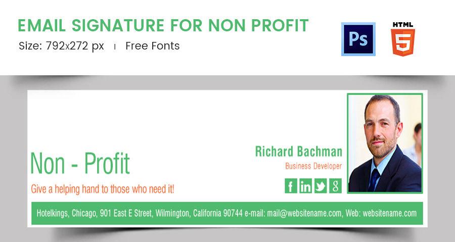 Email Signature for Non Profit