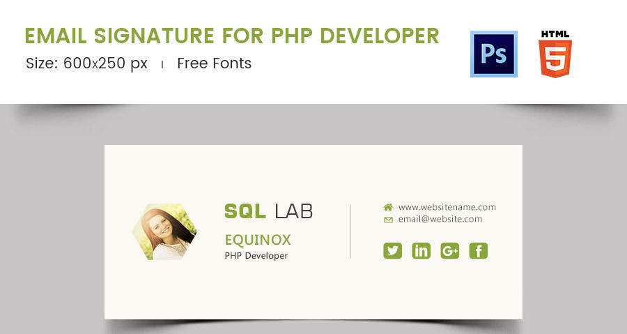 Email Signature for PHP Developer