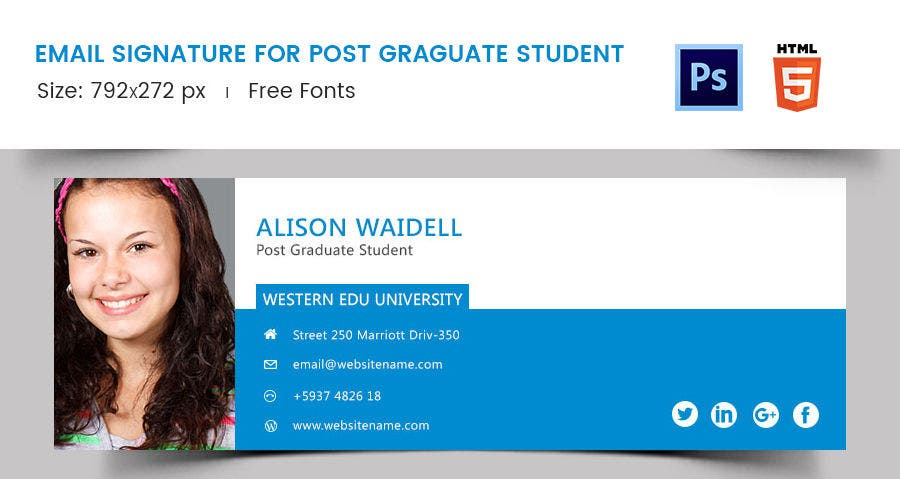 Email Signature for Post Graduate Student
