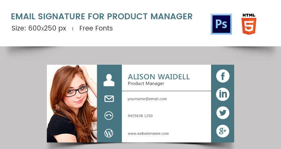 Email Signature for Product Manager