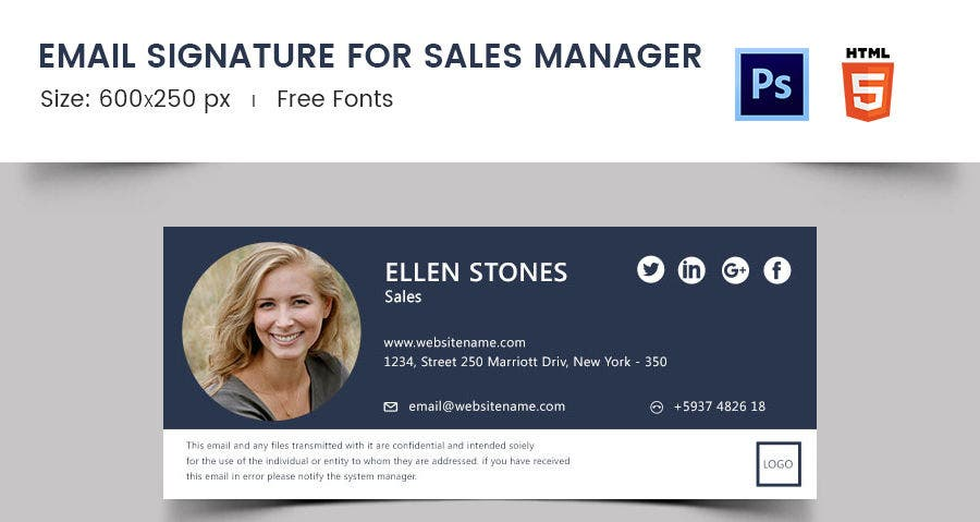 Email Signature for Sales Manager