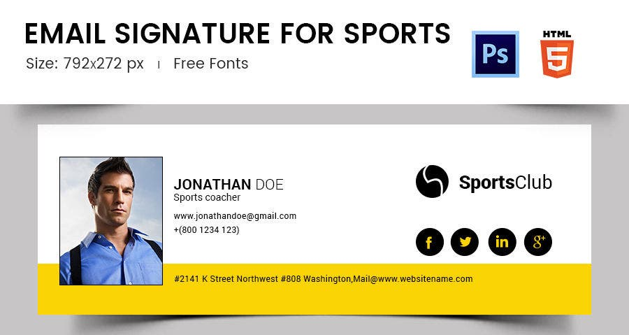 Email Signature for Sports