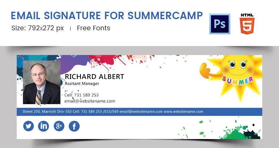Email Signature for Summer Camp