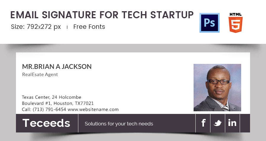 Email Signature for Tech Startup