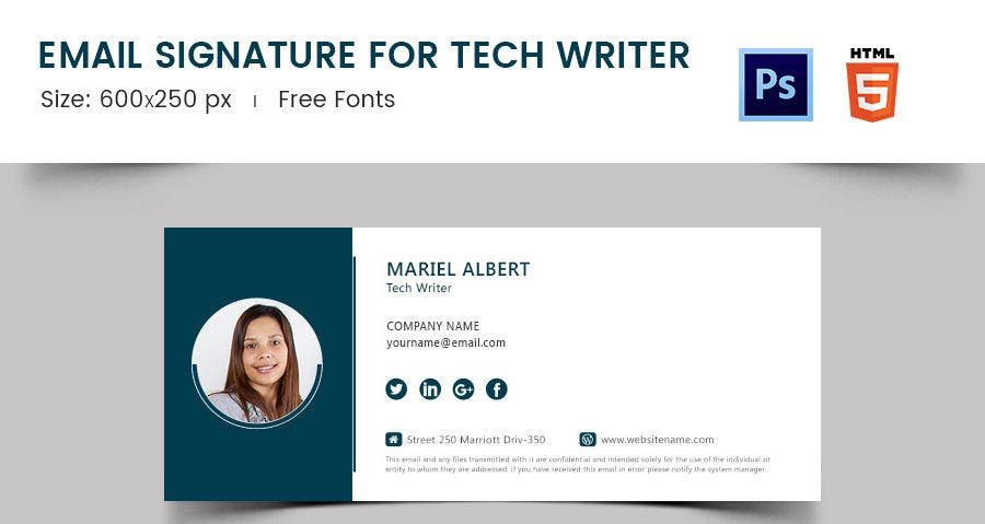 Email Signature for Tech Writer