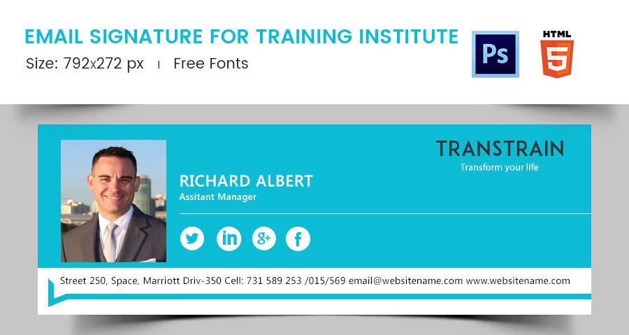 Email Signature for Training Institute