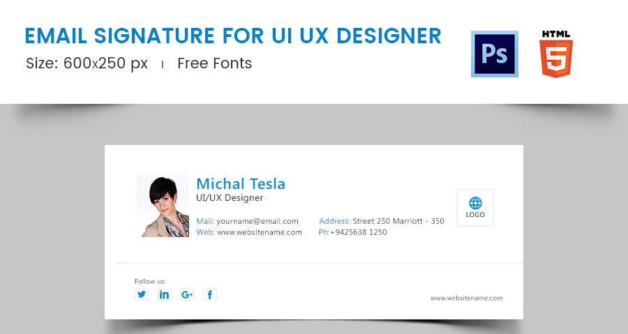 Email Signature for UI UX Designer