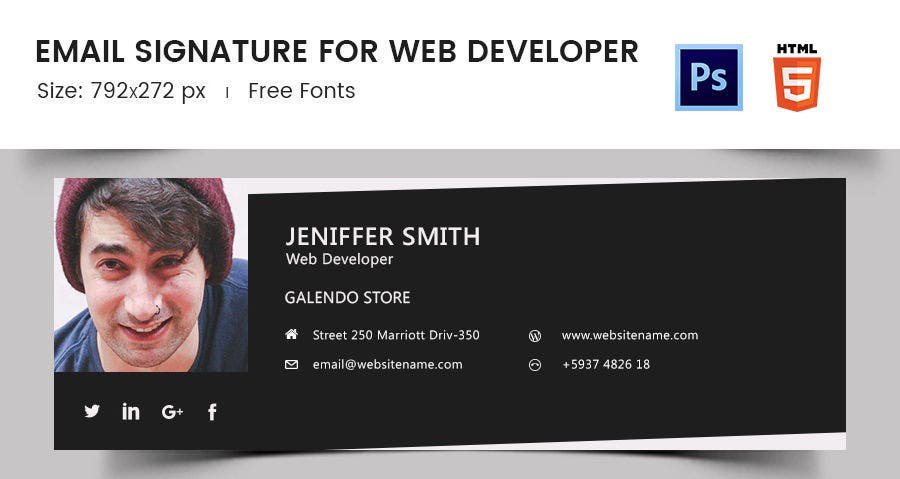 Email Signature for Web Developer