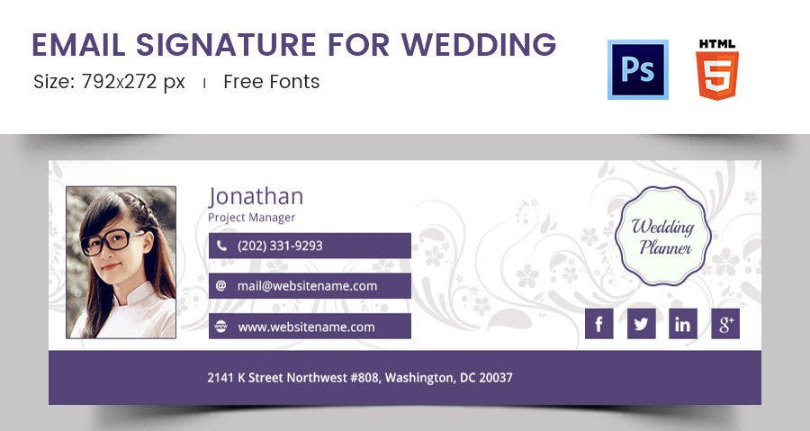 Email Signature for Wedding