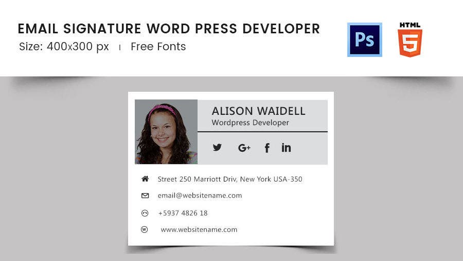 Email Signature Word Press Developer