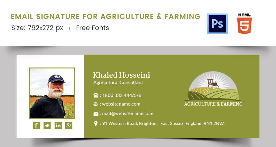 Email Signature for Agriculture & Farming
