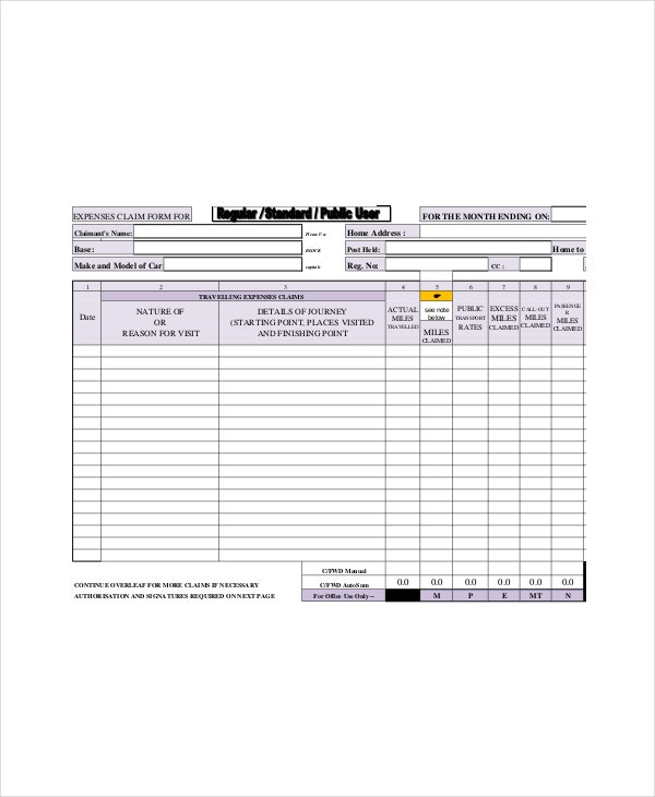 Car Lease Form Template
