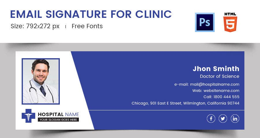 Email Signature for Clinic