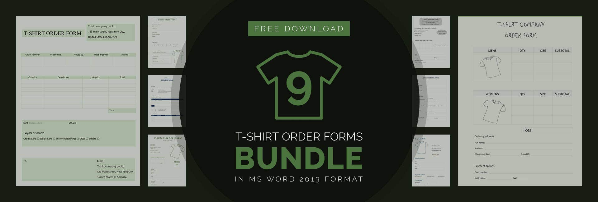 27 t shirt_order_forms_bundle