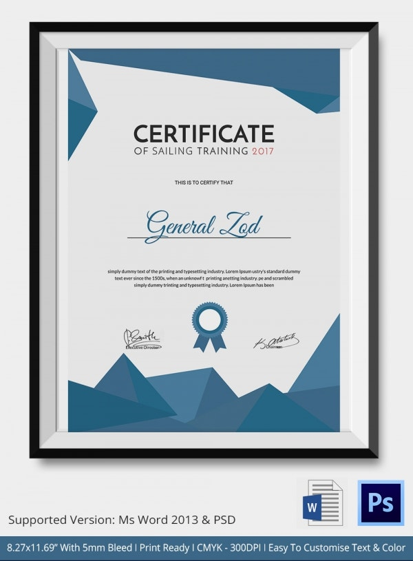 Sailing Certificate - 5+ Word, PSD Format Download | Free ...