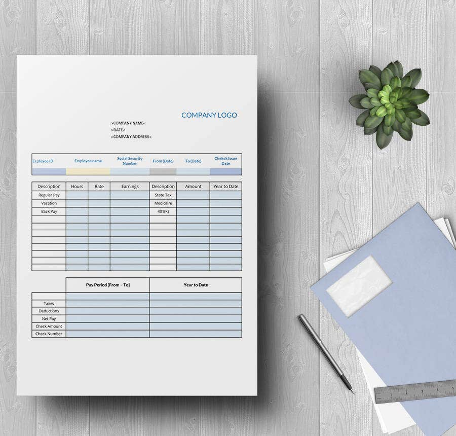 15 Free Pay Stub Templates Corporate Employee Company – Free Payroll Stub Template