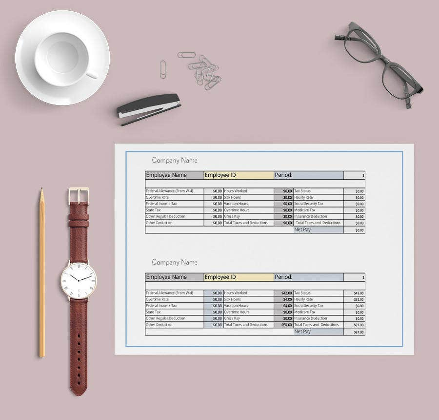 15+ Free Pay Stub Templates - Corporate, Employee, Company