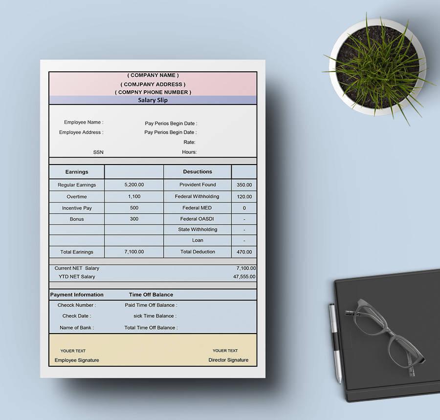 15  free pay stub templates