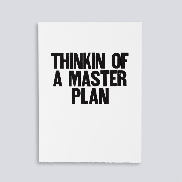 master plan motivational poster