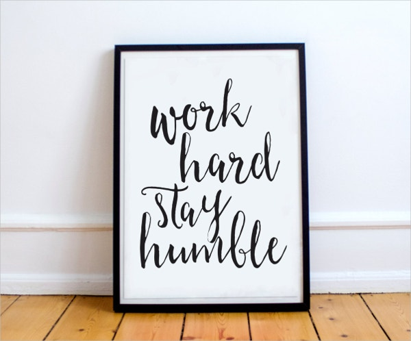 work hard motivational poster