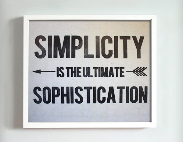 Simplicity Motivational Poster