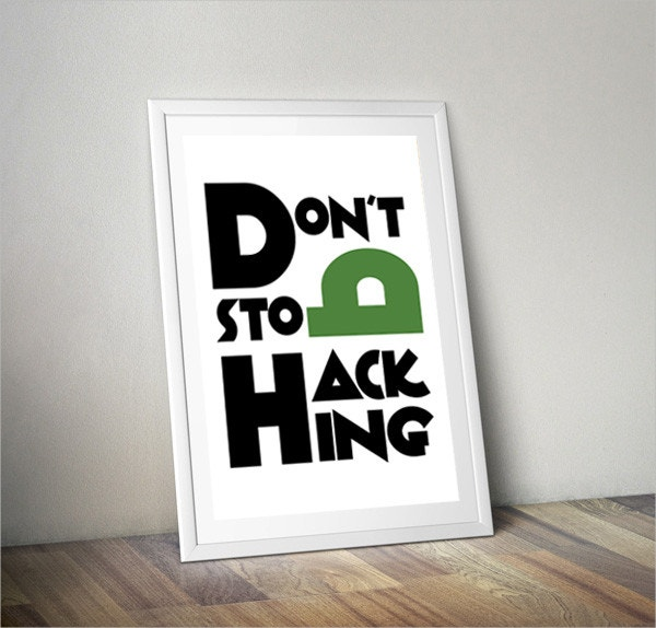 Don't Stop Hacking  Poster