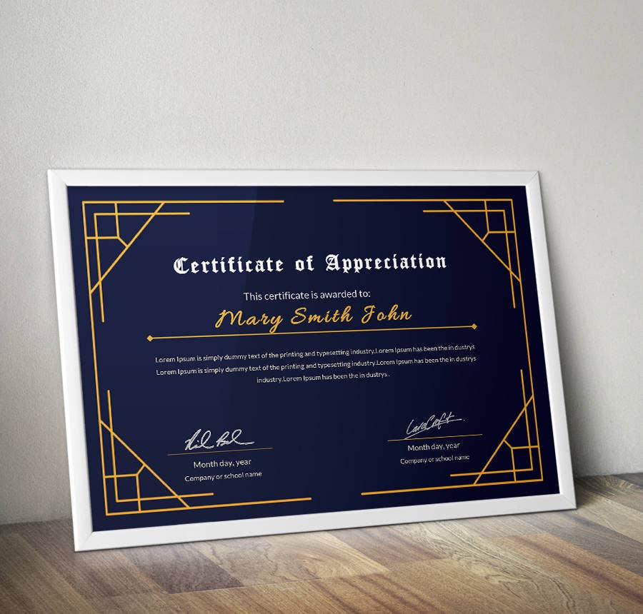 17 free certificate templates participation completion certificate of appreciation template yadclub Image collections