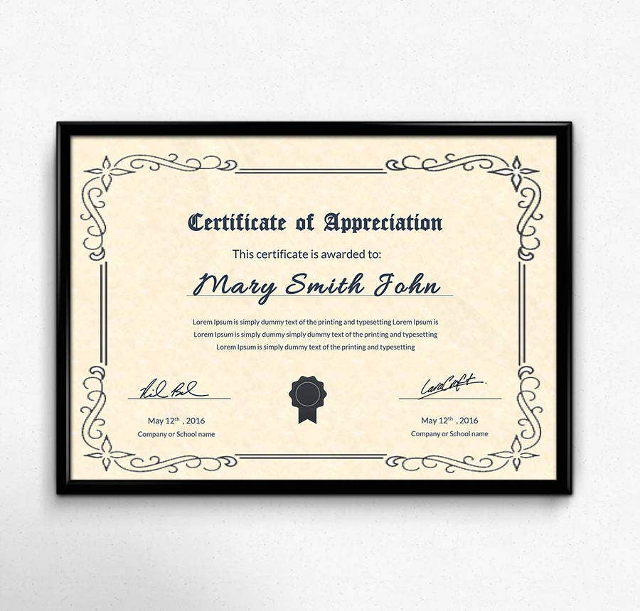 You Can Customize This Certificate Template To Reward The Top Performers In  A School As Well As In Your Enterprise. The Simple But Attractive Layout  And ...  Certificate Layout