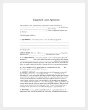Equipment Lease Agreement Template