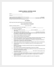 Annual Hunting Lease Contract