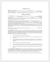 Commercial Property Lease Template