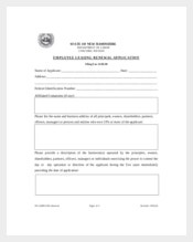 Employee Leasing Renewal Application