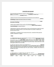 Blank Commercial Lease Agreement Template
